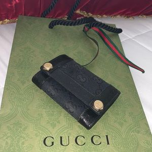 Authentic Gucci GG CARD & keys holder UNISEX